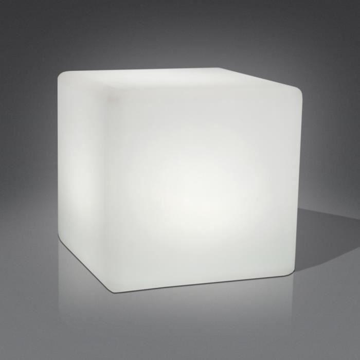 cube lampe led multicolore cubique par interieure exterieure avec coquille en polyethylene et. Black Bedroom Furniture Sets. Home Design Ideas