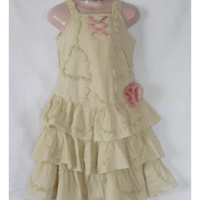 ROBE BEIGE PICK OUIC 2 ANS
