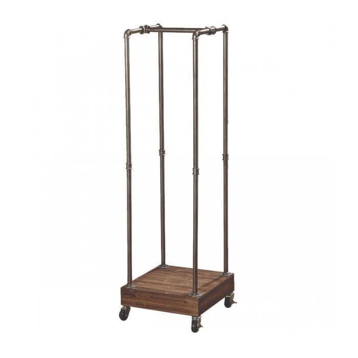 Portant Vêtements Bois Et Métal Style Industriel Hauteur Cm - Portant bois