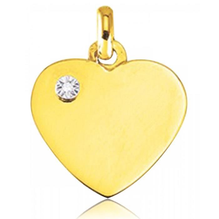 Pendentif mixte diamant Désir coeur Murat Paris