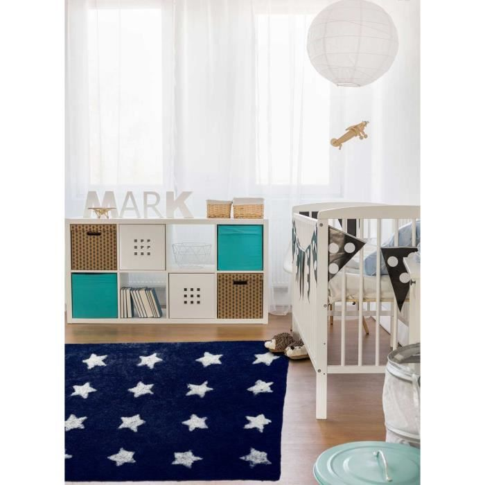 Tapis enfant ETOILE bleu nuit 120x170, par IMPALO, Tapis pour enfant ...