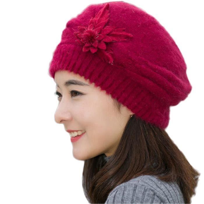 mivogue chapeau femme fille hiver bonnet chaud gris bordeaux achat vente bonnet. Black Bedroom Furniture Sets. Home Design Ideas