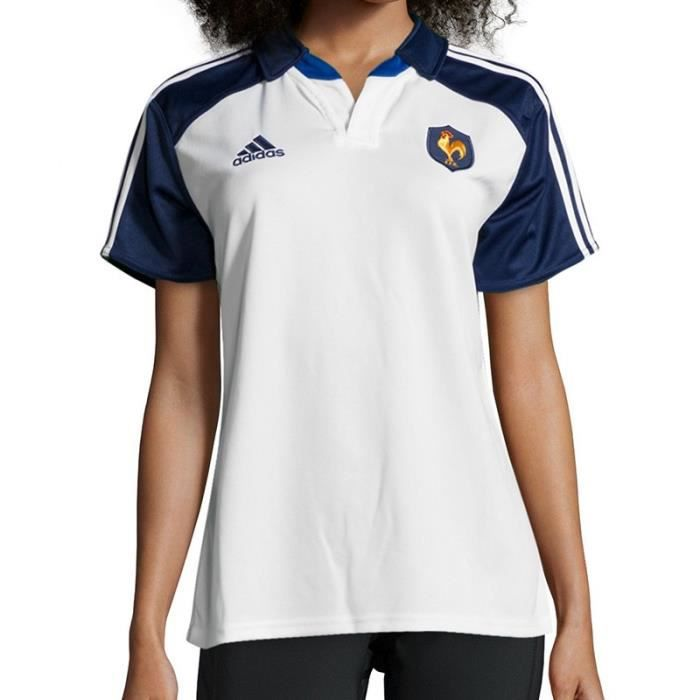 Maillot Pas Ffr Femme Adidas Cher Rugby A Blc Prix W Jsy OZiPukX