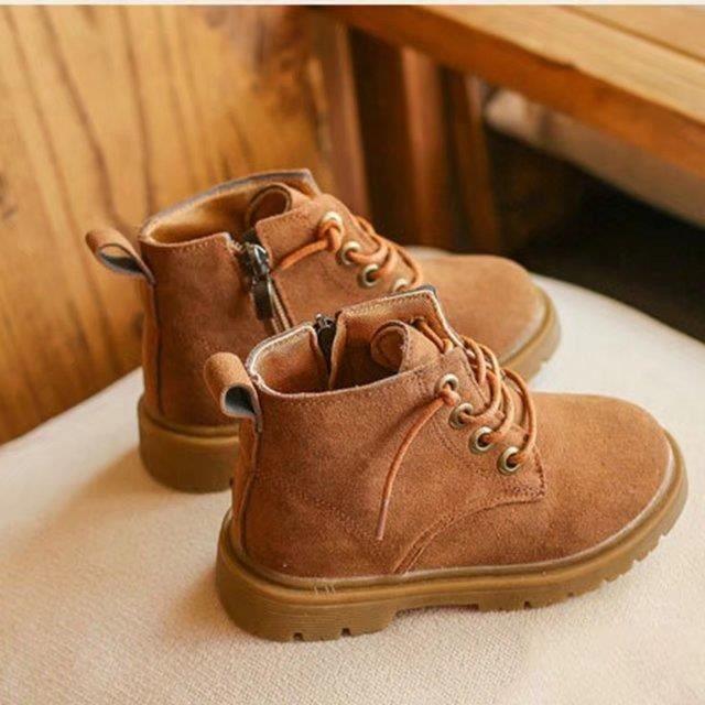 Bottes en cuir pour enfants Bottes en daim Chukka Boot Kids ... 3c792447e9e4