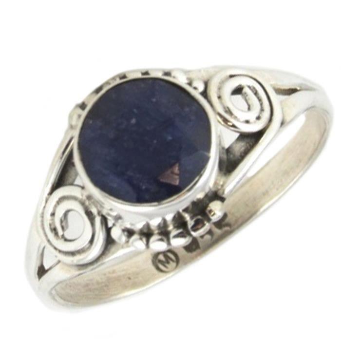 cfe1fd63fdec7 Bague Argent 'Heaven' lapis lazuli - 10 mm [P7147] Bleu - Achat ...