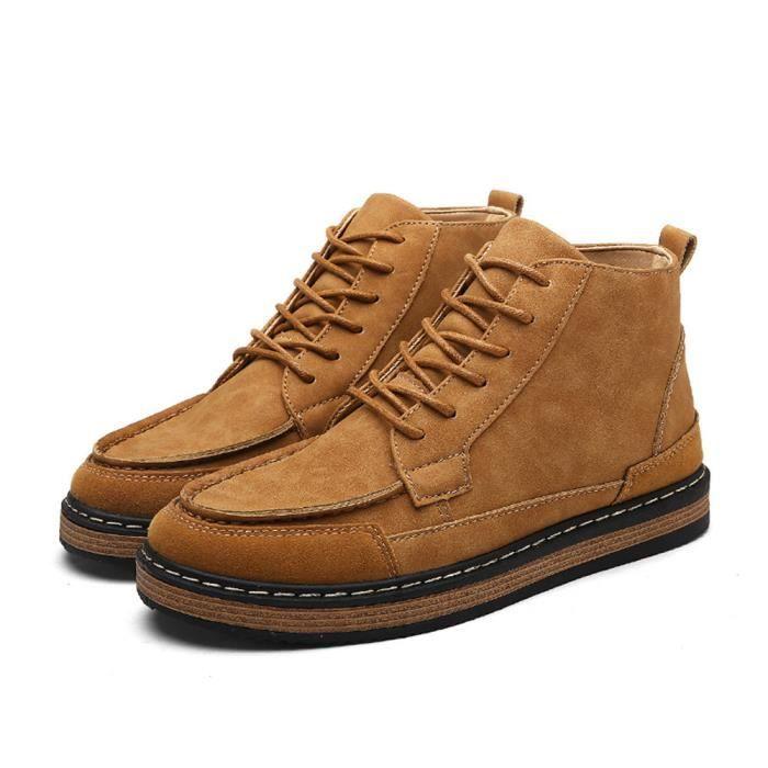 Bottine Homme Haut qualité Respirant ChaudExtravagant Bottines Léger Chaussure Antidérapant Durable Grande Taille
