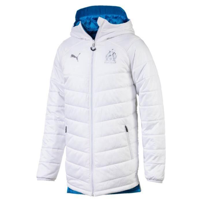 820848d333ab3 Veste Puma Veste Om Doudoune Jacket Revers Blanc Homme Blanc Blanc ...