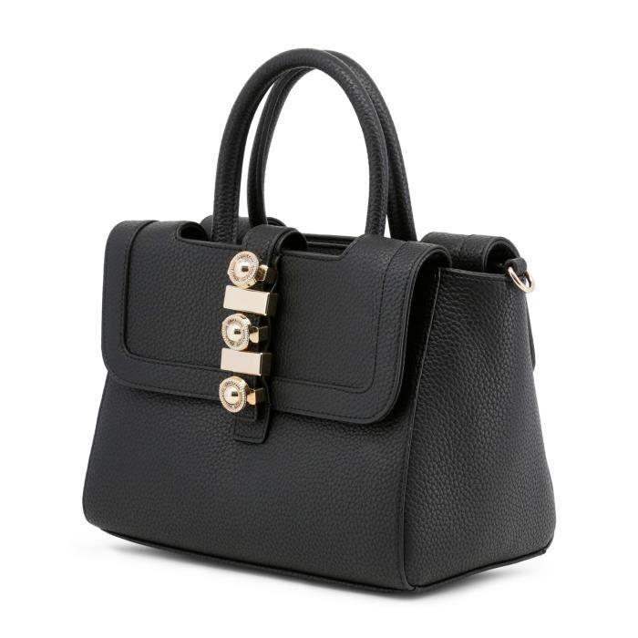 Sac à main façon cartable noir détail bijoux femme Versace Jeans Noir