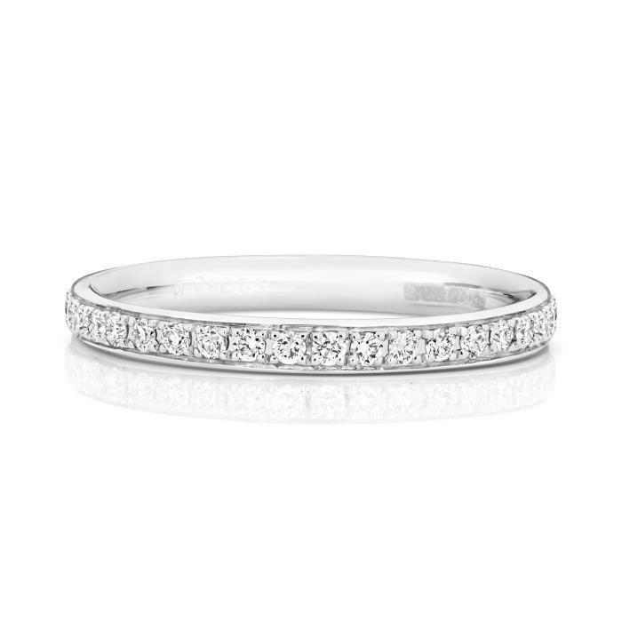 Bague de Mariage-Alliance Femme Eternité 2,2mm Platine 950 et Diamant Brillant 0.25 Carat G - SI1 31140