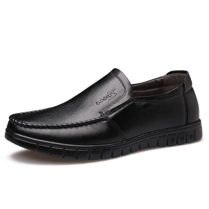 Hommes Cuir En Chaussures xz189marron38 De Chaussure Homme Ville Jozsi Puconfortable Hz 5OqZWyaff