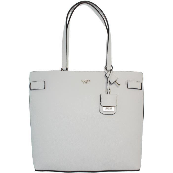 Sac porté épaule Guess cate ref_guess40866-white Blanc