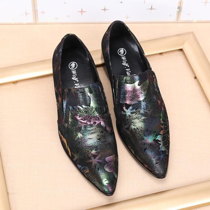 2017 New fleurs à la main d'impression formelles pour hommes Chaussures Hommes Mariage et partie Mocassins Hommes Flats Plus Size