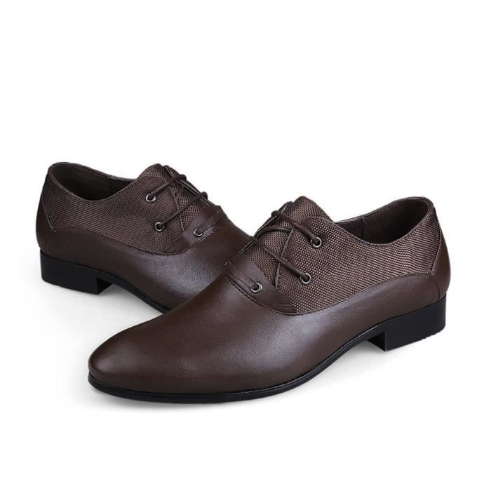 Men' S Leather Shoes Casual Business Shoes Oxford TUZQJ Taille-45 7MEe6f