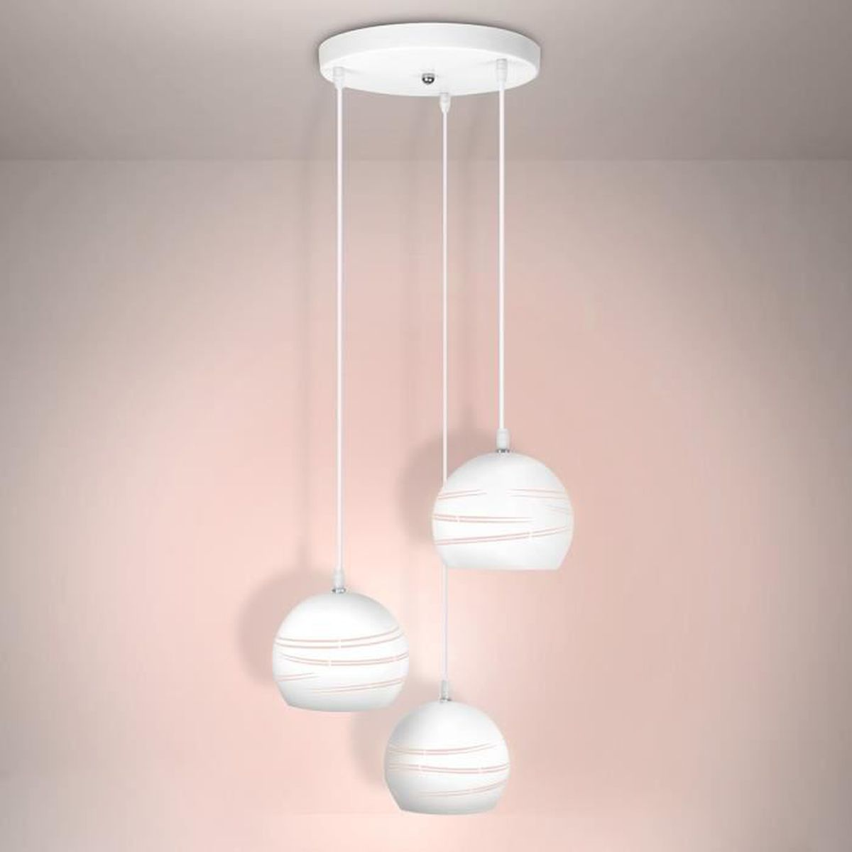 Lustre pour salle a manger interesting awesome finest for Suspension simple luminaire