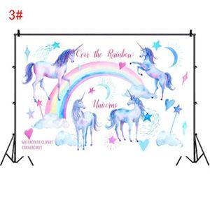 FOND DE STUDIO Motif 3# - 80x125cm Toile de Fond Licorne Arrière-