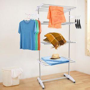 etendoir avec roulettes achat vente pas cher. Black Bedroom Furniture Sets. Home Design Ideas