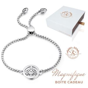 BRACELET - GOURMETTE Bracelet Coeurs et Cristal de Swarovski Elements M
