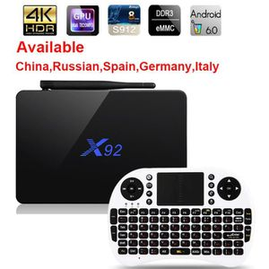 BOX MULTIMEDIA X92 Android 7.1 TV Box Max 3 Go / 32 Go X92 Amlogi