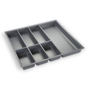RANGE COUVERTS ORGA-BOX® III Bac à couverts gris argentér pour 60