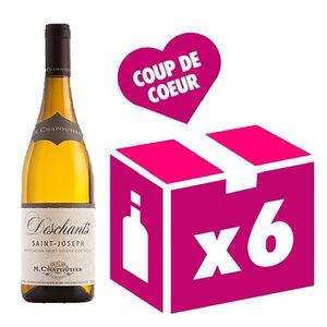 VIN BLANC Saint Joseph 2015 Deschants vin blanc 6x75cl Chapo
