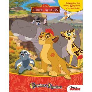 LIVRE D'ÉVEIL DISNEY GARDE DU ROI LION 12 figurines et un tapis