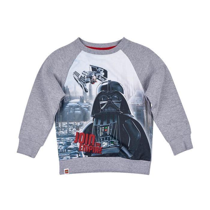 LEGO STAR WARS Sweatshirt - Enfant Garçon - Gris Clair Imprimé
