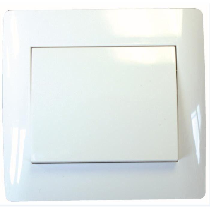 VOLTMAN Interrupteur Poussoir blanc série Tango