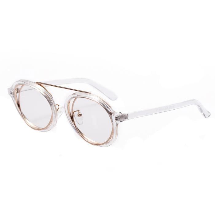 best sell top design super quality 81379 Lunettes de soleil rondes vintage pour hommes et femmes Lunettes de  soleil Transparent (Transparent Flat) LJD80407893CL_118