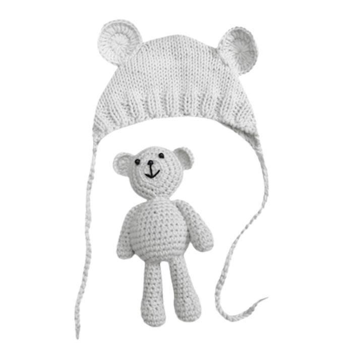 deuxsuns® Nouveau-né Stretchy Knit Photo bébé chapeau + Pantalon Costume  Photographie Props XMM70715532WH df9e5e8f698