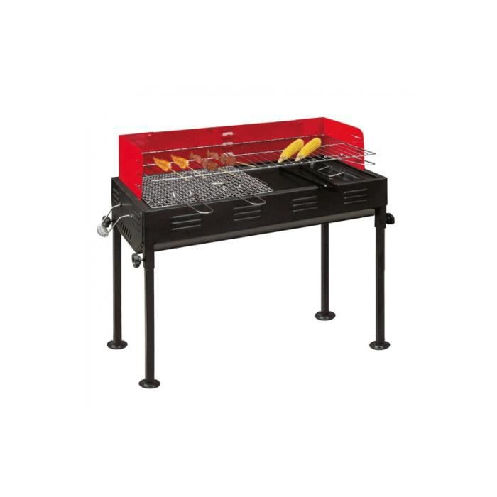 barbecue charbon 2 grilles