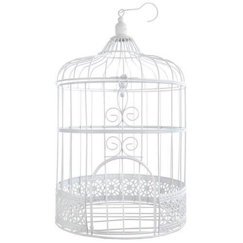 tirelire mariage urne cage oiseau blanche achat vente. Black Bedroom Furniture Sets. Home Design Ideas