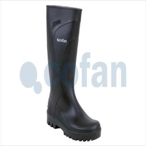 Botté de PVC pluie antidérapante semelle (noir) - 12002841