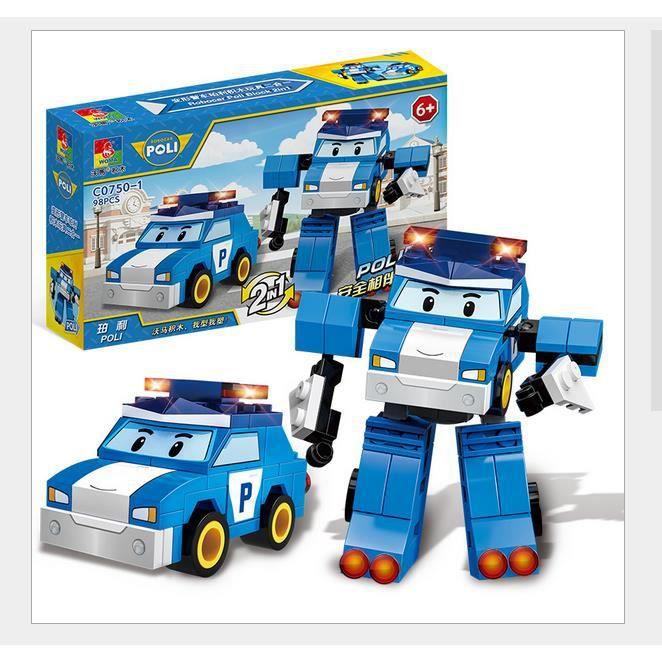Construction 1 Iztoss De 2 Voiture D'assemble Robot D'imitation Police Jeux En Jouet 35Rq4LAj