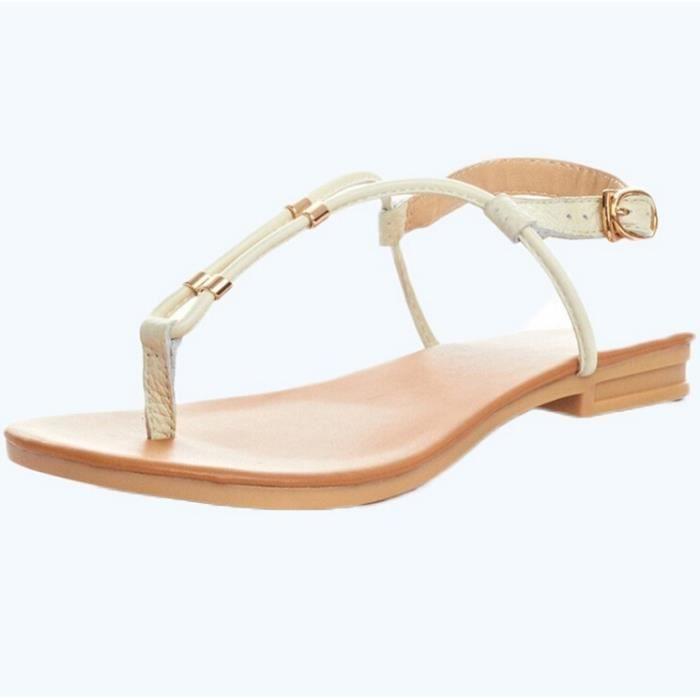 Top Quality Mode Femmes Sandales en cuir Compen...