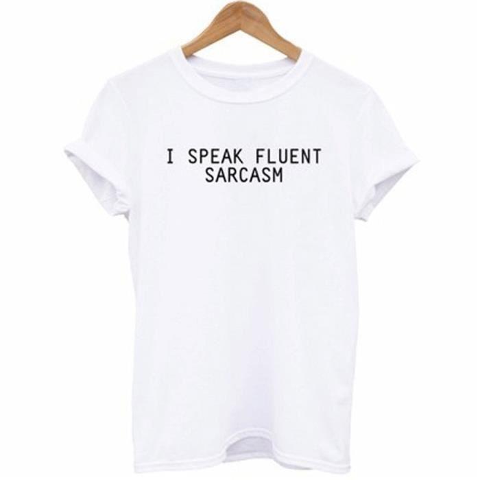 dac37dee9e6f7 Manches courtes impression lettre été femmes fille ronde cou T-shirt ...