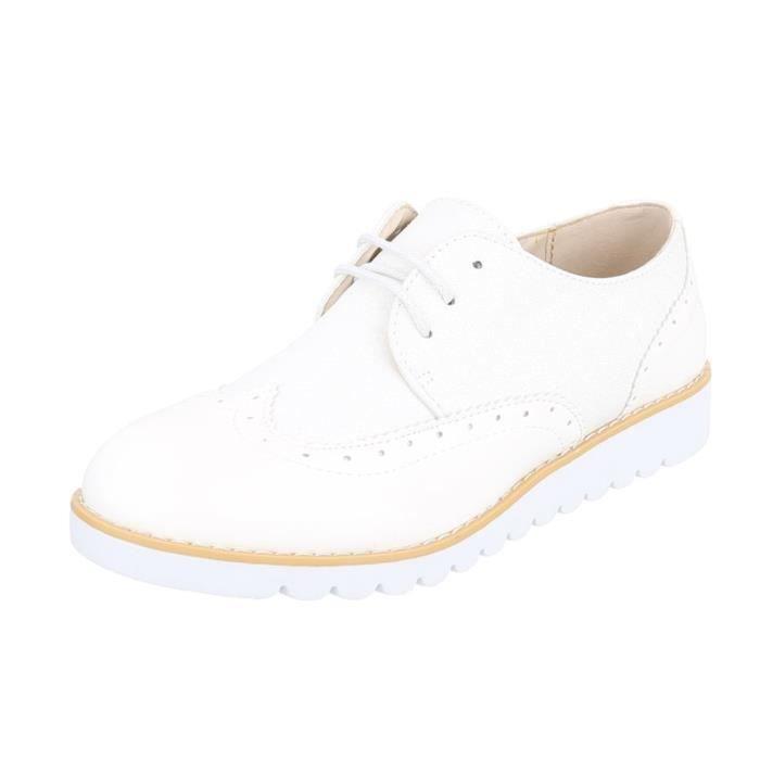Chaussures femme flâneurs laceter blanc 41