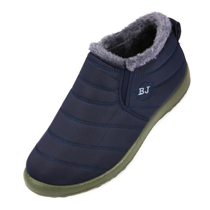 Bottes hiver neige cheville fourrure Doublure Slip extérieure imperméable chaussures de sport pour des couvre-chaussures Et les femm