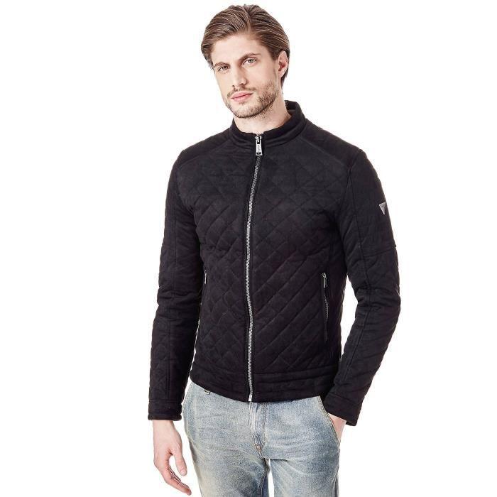 Guess veste Homme Effet Matelassé Noir - Taille - M Noir Noir ... 2a70be24618