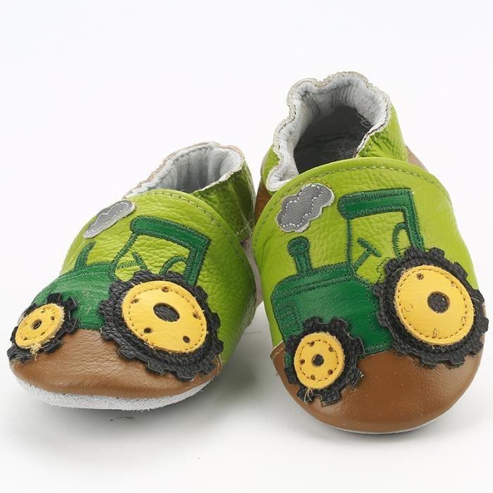 92e7363ab3c33 CHAUSSON - PANTOUFLE Chaussures Bébé en Cuir Souple - Chaussons ...