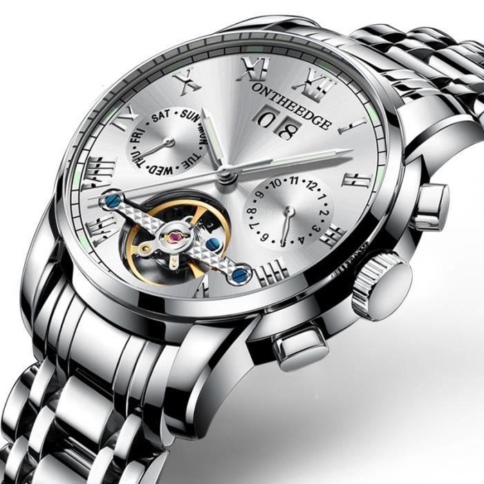 acheter en ligne bf1ca f451d SHARPHY montres automatiques hommes luxe 2018 men watch bracelet étanche  argent