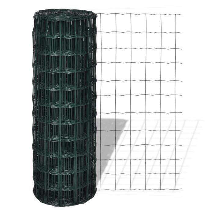 Clôture de jardin Grillage 25 x 1,2 m avec mailles 100 x 100 mm ...
