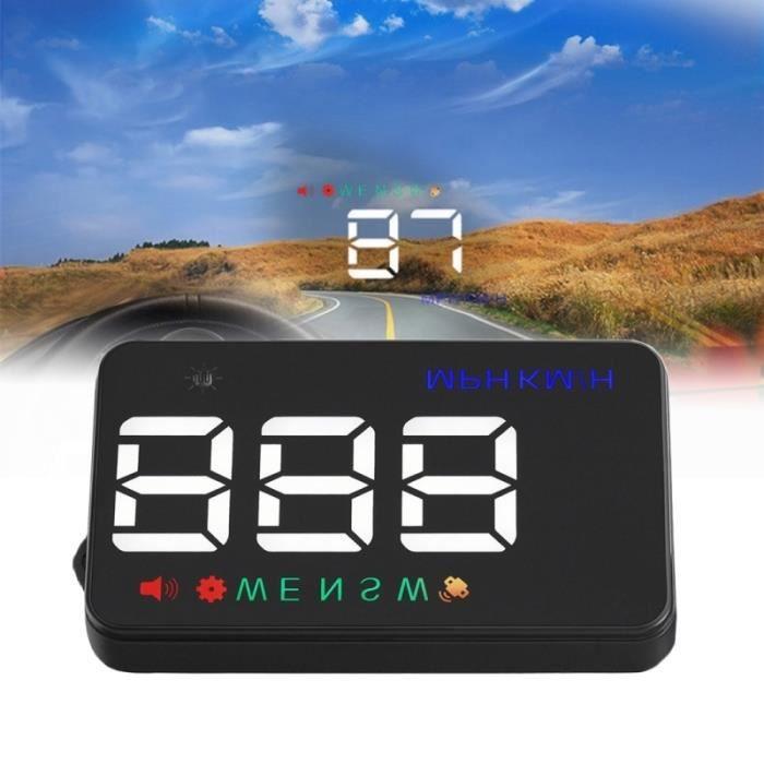 Affichage tête haute Geyiren A5 HUD 3.5 pouces voiture avec système GPS à deux modes capteurs lumière KM / h MPH vitesse boussole