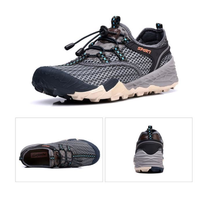 Baskets Homme Chaussure Jogging Sport léger Respirant Chaussures BSMG-XZ219Gris42 xGhaAe