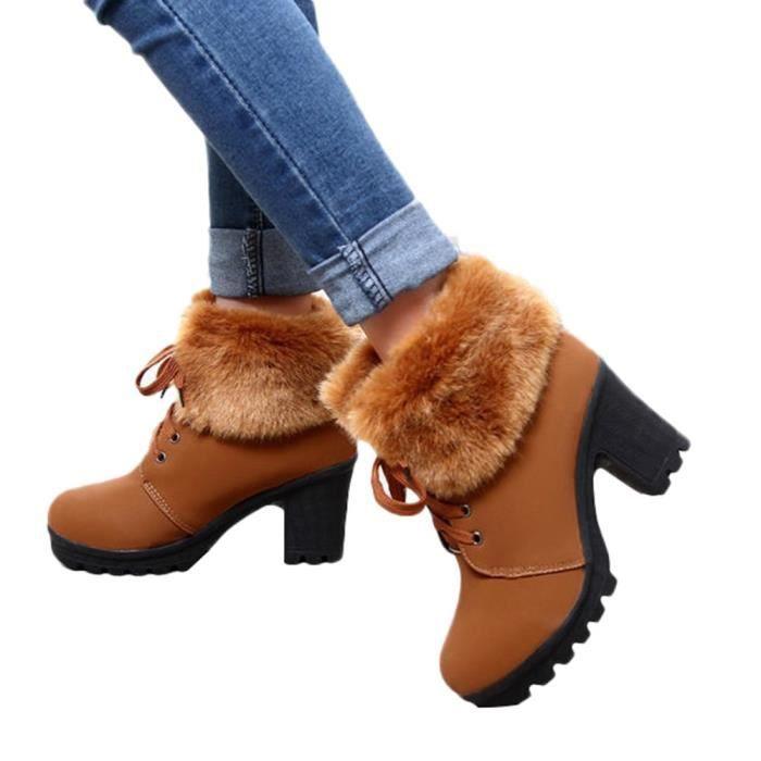 Caoutchouc Hiver Confortable Slip Chaud Neige Bottines Rsistant En Femme Bottes Talkwemot6764 wqH6w