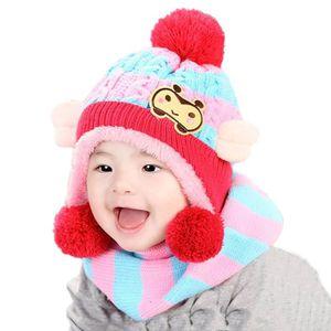 ... ECHARPE - FOULARD Bébés filles garçons Chapeau d hiver écharpe de ... b2ea0fbeed5