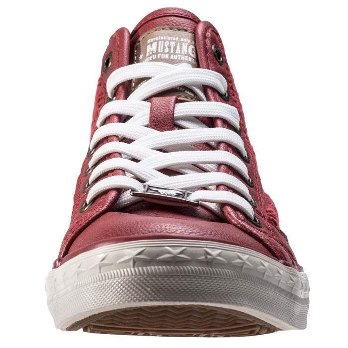 Mustang High Top With Embroidery Femmes Baskets Red - 40 EU
