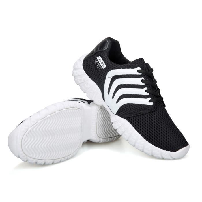 Hommes exécutant des chaussures chaussures de sport baskets - Noir