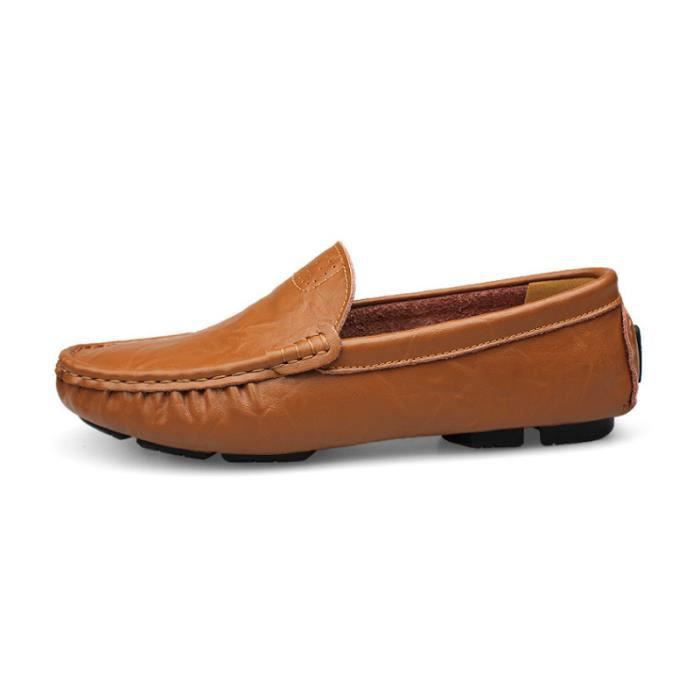 Mocassin Hommes Mode Chaussures Grande Taille Chaussures BJYG-XZ73Jaune36