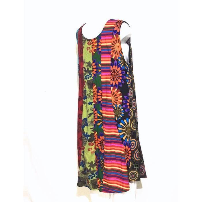 Robe Tunique Patchwork SD-93 multicolore Taille 46/48- Multicolore