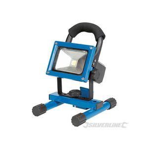 SILVERLINE Projecteur de chantier LED rechargeable avec port USB